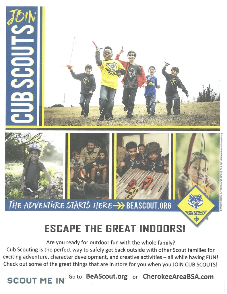 Information on how to join Cub Scouts flyer.