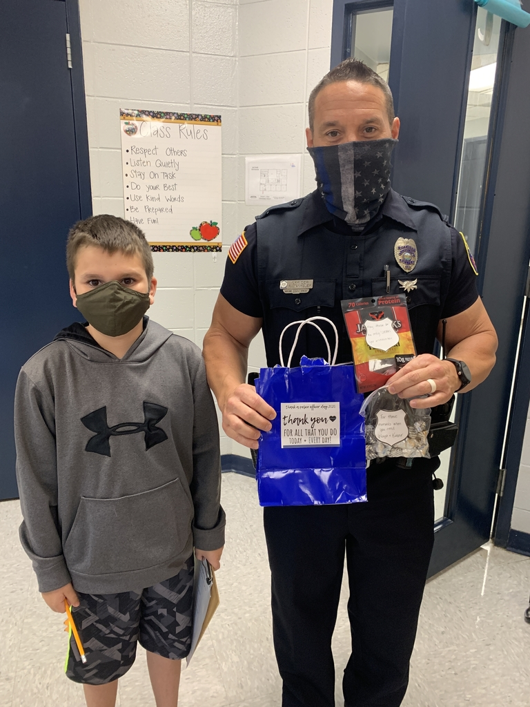 Officer Tank and student